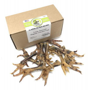 USA Chicken or Duck Feet Treats for Dogs - Human-Grade  Dehydrated Dental Chews with Collagen, Glucosamine and Chondroitin by Sancho and Lola's - Raw Diet Approved