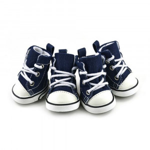 Pet Shoes GLE2016 Puppy Sport Denim Shoes Casual Style Anti-slip Boots Sneaker Booties 4Pcs