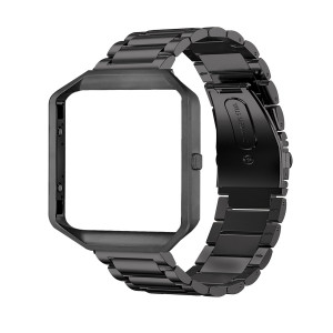 Frler Watch Band Compatible Fitbit Blaze Smart Fitness Watch, Frame Housing with Stainless Steel Bracelet Replacement Strap