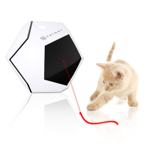 SereneLife Automatic Cat Cube Toy - Electronic Rotating and Moving Teaser Machine for Interactive and Smart Sensory Pet Play - Auto Wireless Control - SLCTLA40