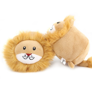 PAWABOO Squeak Plush Dog Toys, Stuffed Plush Pet Toys Soft Faux-Fur Pet Rattle Puppy Bite Play Chew Toys Non-Toxic Plush Doll
