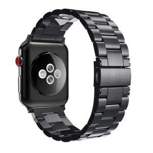 Fintie Band for Apple Watch 44mm 42mm, Premium Stainless Steel Metal Replacement Wrist Strap Bracelet Compatible with Apple Watch Series 4 3 2 1 Sport Nike+ Edition - Black