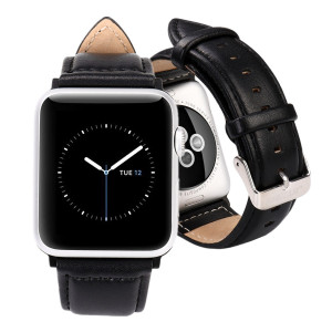 Jisoncase Compatible Band for 38MM and 40MM Apple Watch Series 4,Series 3 Series 2 and Series 1, Black (TC-AW3-19M10)