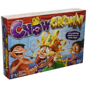 Chow Crown Game Kids Electronic Spinning Crown Snacks Food Kids and Family Game