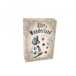 Alice in wonderland playing cards, full 54 poker-size card deck