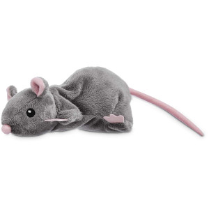 Leaps and Bounds Grey Rat Cat Toy, Gray