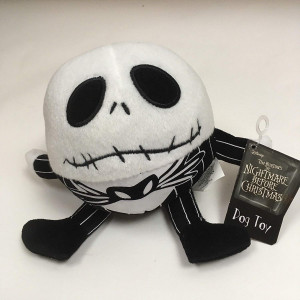 The Nightmare Before Christmas Round Jack Skellington Dog Squeaky Toy