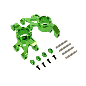 Atomik RC Alloy Steering Block Green fits The Traxxas X-Maxx Replaces Traxxas Part 7737 RC Car and Truck Parts