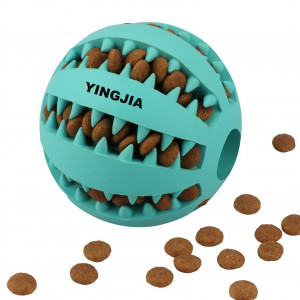 YINGJIA Dog Toy Ball, Nontoxic Bite Resistant Toy Ball for Pet Dogs Puppy Cat, Dog Food Treat Feeder Tooth Cleaning Ball,Dog Pet Chew Tooth Cleaning Ball Pet Exercise Game Ball IQ Training ball