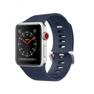 SHIELDA Silicone Sport Strap Replacement Band for Apple Watch Series 3/2/1 38MM 42MM