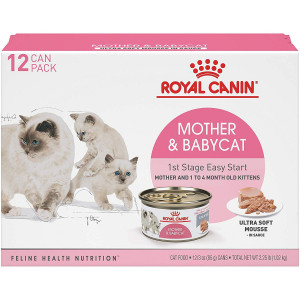 Royal Canin Feline Health Nutrition Mother and Babycat 1st Stage Easy Start Ultra Soft Mousse Canned Cat and Kitten Food, 3 Ounce Can (Pack of 12)