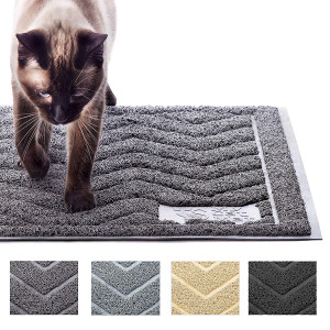 My Cat Mat Cat Litter Mat Traps and Controls Kitty Litter Scatter Large XL Size for Tracking and Trapping Scat from Litter Box, Best Easy Clean Catching and Trapper Rug, Soft on Paws