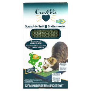 OurPets Scratch-N-Sniff Cat Scratcher Microencapsulation Catnip Oil No Mess Scratching Pad