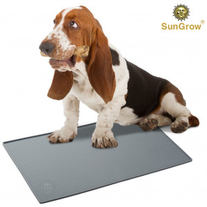 Silicone Pet Feeding Mat - Waterproof, Splash Proof Placemat Raised Edges - Lightweight Easy to Clean - Anti-Skid, FDA-Approved, Food-Grade  Material - Safe Dogs, Cats, Rabbits More