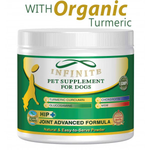 All-Natural Hip and Joint Supplement for Dogs - with Glucosamine, Chondroitin, MSM, and Organic Turmeric - Supports Healthy Joints in Large and Small Canines - 90 Chewable Treats