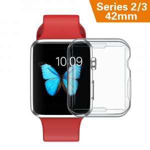 DILITEC Ultra-Thin Hd Clear All-Around TPU Screen Protector for Apple Watch Series 2/3 42mm