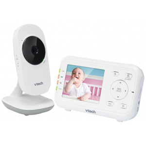 VTech VM3252 2.8 Digital Video Baby Monitor with Full-Color and Automatic Night Vision, White