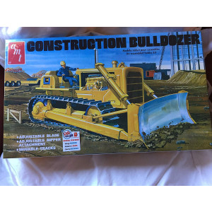 Construction Bulldozer Plastic Model Kit, , Paint and Glue required