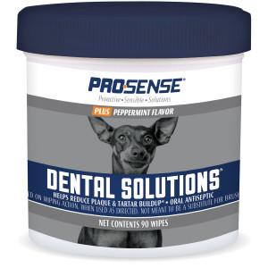 ProSense Plus Peppermint Flavor Dental Solutions Wipes, 90 Count