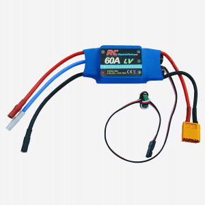 60A RC Brushless Motor Electric Speed Controller ESC 4A UBEC with XT60 and 3.5mm bullet plugs