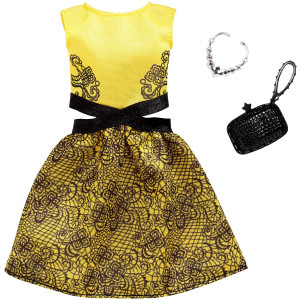Barbie Complete Looks Yellow and Black Dress Fashion Pack