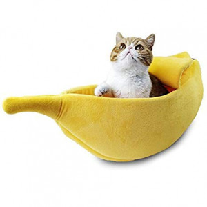 PET GROW Cute Cat Bed House, Pet Bed Soft Cat Cuddle Bed, Lovely Pet Supplies for Cats Kittens Rabbit Small Dogs Bed