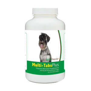Healthy Breeds Multi-Tabs Advanced Formula Vitamin and Mineral Daily Dietary Supplement - Liver Flavored Tablets - Over 200 Breeds - 180 365 Chews