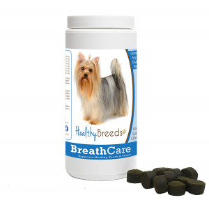 Healthy Breeds Breath Care Soft Chews - Vet Formulated to Freshen Breath and Support Healthy Teeth and Gums - Over 200 Breeds - Grain Free - 100 Chews