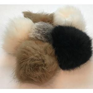 Barker Brands Inc. Real Fur Balls Natural Cat Toy 6 Pack