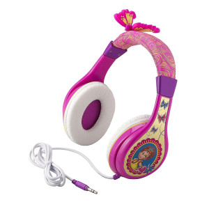 Fancy Nancy Headphones for Kids with Built in Volume Limiting Feature for Kid Friendly Safe Listening (Original Version)