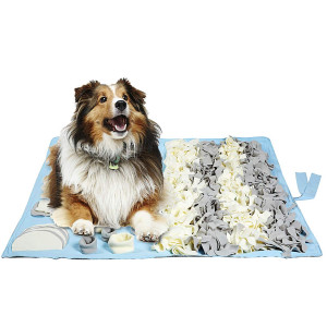 Petvins Dog Feeding Mat Snuffle Nose Work Training Foraging Mat Pet Activity Blanket Slow Feeder Bowl Stress Release Pad