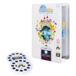 Moonlite - Eric Carle Junior Starter Pack, Storybook Projector for Smartphones with 2 Story Reels, For Ages 1 and Up