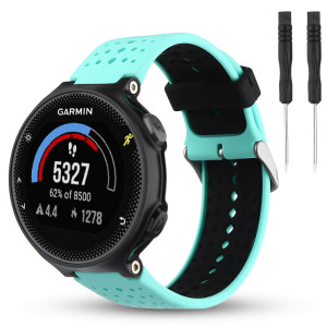 Wizvv Compatible Bands Replacement for Garmin Forerunner 235 220 230 620 630 735, Soft Comfortable Smooth Silicone Wristband for Women Men