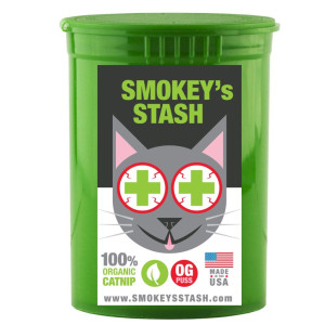 Smokey's Stash Organic Catnip OG puss cat Weed for Cats pop top - Small