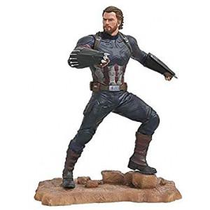 DIAMOND SELECT TOYS Marvel Gallery: Avengers Infinity War Movie Captain America PVC Diorama Figure