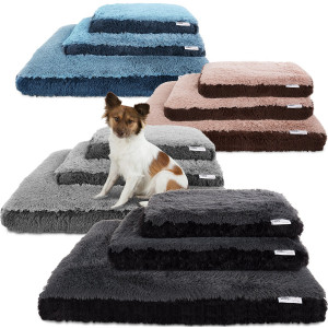 Paws and Pals Dog Bed for Pets and Cats - Bolster Foam Deluxe Bedding Cuddler Lounger Two-Toned Design for Travel, Home and Crate