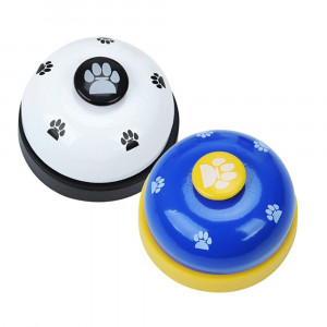 Jaeske Pet Training Bells, Pet Interactive Toys Pack of 2 Footprint Dog Bells for Potty Training