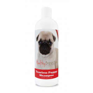 Healthy Breeds Tearless Puppy Shampoo and Conditioner - Over 100 Breeds - Safe Flea Topicals - 16 oz - Passion Fruit Scent