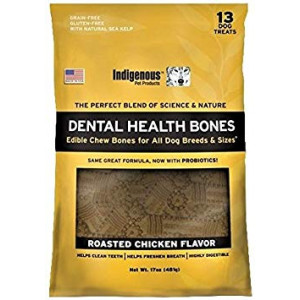 Indigenous - Dental Bone Chew Roasted Chicken Flavor, 17Oz
