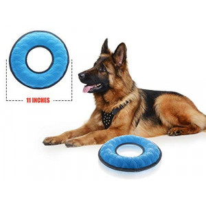 Tuff Pupper Multi-Use Floating Dog Ring Toy and Dog Water Toy | Great Dog Fetch Toy for Exercise - Bounces On Surfaces | NOT for Destructive Chewers