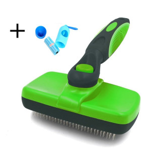 Ezeagbor Pet Slicker Brush Self Cleaning. Deshedding Tool, Grooming Brush Large and Small Dogs and Cats