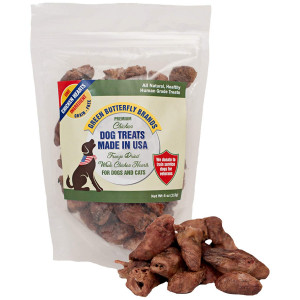 Green Butterfly Brands Freeze Dried Whole Chicken Hearts for Dogs and Cats - One Ingredient Premium Chicken Dog Treats - Made in USA Only  All Natural, Grain Free - No Additives or Preservatives 4oz