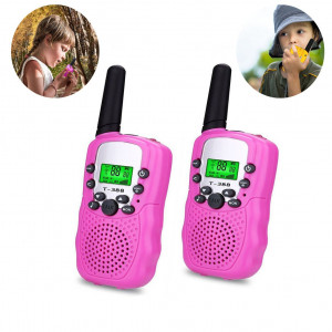 Three Ducks Best Gifts for Kid, Walkie Talkies for Kids, 3 Miles Range, Built in Flash Light,1 Pair
