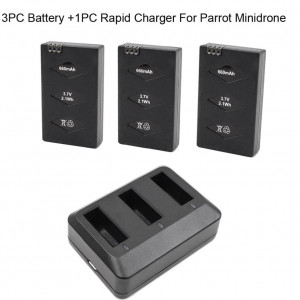 Rucan 3 Battery/Set For Parrot MiniDrone Jumping Sumo Swing Mambo Rolling Spider