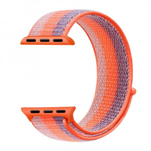 Navor Soft Breathable Woven Nylon Replacement Sport Loop Band for Apple Watch Series 3/2/1 [38MM ] [Orange] IWB-41-38MM