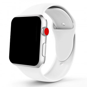 Fivecats Band for Apple Watch 38/40MM 42/44MM,Soft Silicone Strap Replacement iWatch Bands for Apple Watch Sport,Series 4,Series 3,Series 2,Series 1 (White, 38/40MM S/M)