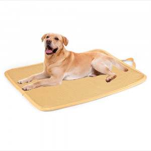 Kimi Homes Dog Crate Mat - Antibacterial and Anti-Mold Dog Crate Pad, Easy Cleaning Kennel Pad with Mesh Technology, Perfect Four Season Functions for Dogs, Cats and More