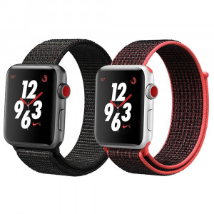 iMoway Sport Loop Band Compatible for Watch 38mm 42mm, Nylon Replacement Wristbands Compatible for iWatch Series 1/2/3, Nike+,Sport,Edition