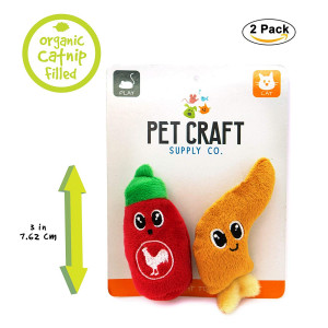 Pet Craft Supply Funny Enticing Crinkle Pouncing Cuddling Chasing Catnip and Silvervine Interactive Boredom Relief Cat Toys