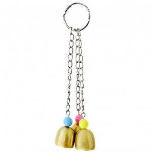 Bell Bird Toy (1 Piece) - Lightweight Galvanized Steel Bell for Parrots, Cockatiels, Conures and Lovebirds - Securely Hangs from Center of Bird Cage - Charming and Entertaining Jingle Bell Sound